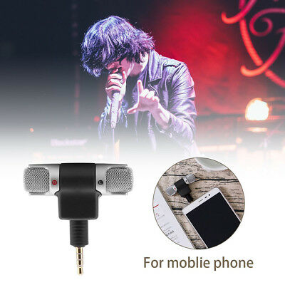 New Mini Portable Digital Stereo Microphone Mic For Recorder Smart Cell Phone