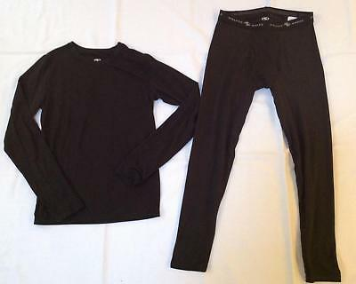 Athletic Works black base layer long sleeve shirt pants set XL 14 16 Never worn
