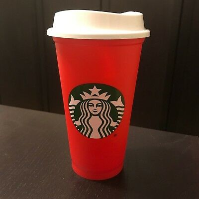 New Starbucks Coffee Reusable 16oz Red Cup XMAS Christmas Holiday 2018 FREE SHIP
