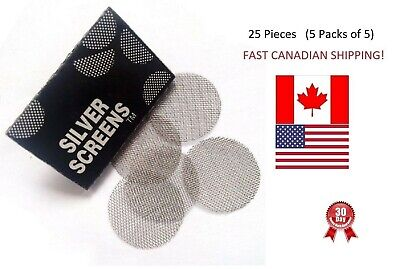 "25 Pipe Screens Steel Silver Tobacco Smoking 3/4"" 20mm BEST PRICES IN CANADA/USA"