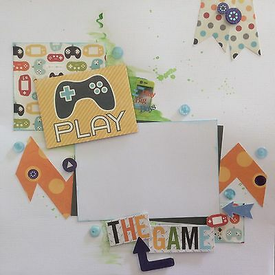 handmade scrapbook page 12 X 12 Play The Game (gaming) Themed Layout