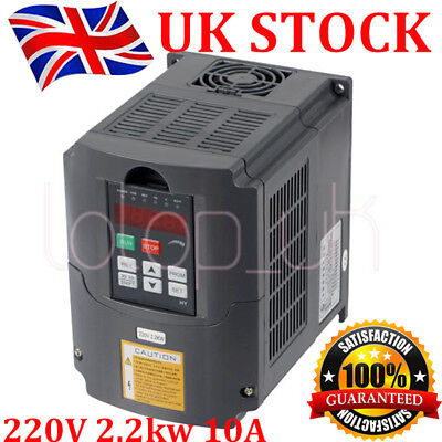 2.2KW 220V 3HP 10A VARIABLE FREQUENCY DRIVE INVERTER VFD SPEED CONTROL CE in UK