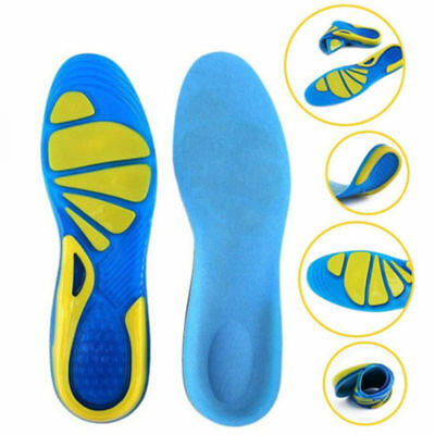 Silicon Gel Insoles Foot Care Pads for Plantar Fasciitis Heel Spur Sport New
