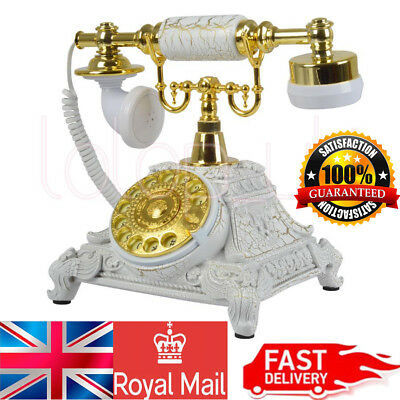 Delicate Vintage Antique Handset Phone Old European Style Rotary Dial Telephone