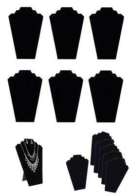 Twing Black Velvet Necklace Jewelry Display Organizer Stand 6Pcs/Pack, 12.5Inche