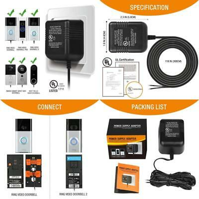 Power Adapter, Video Doorbell Power Supply For The Ring Video Doorbell, Ring Vid