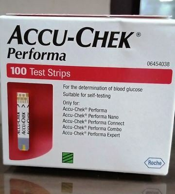 Accu-Chek Performa 100 Blood Glucose Test Strips  Expiry 31 AUGUST 2020