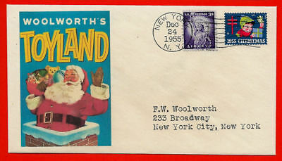 16x24 1950s Santa Claus Woolworth/'s Toyland Chimney Vintage Advertising Poster