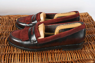 Bertie Ladies Burgundy Leather  Slip On Fringe Detail Loafers Size UK 5 EU 38