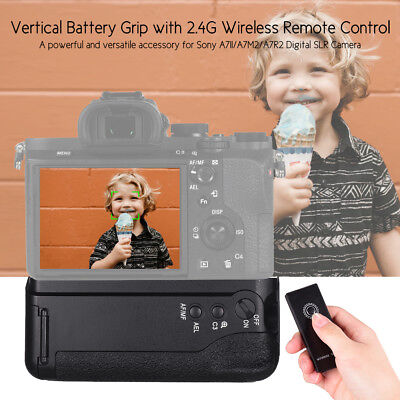 For Sony A7Ii/a7M2/a7R2 Vertical Camera Battery Grip +Np-Fw50 2.4G Wireless O0Q4