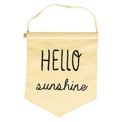 Sass & Belle Hello Sunshine Yellow Pastel Banner Flag Nursery Baby Gift