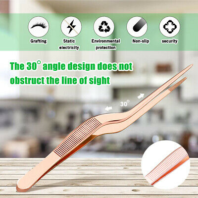 5.47inch Mini Stainless Steel Cooking Tweezer Tongs Salsd Serving Kitchen