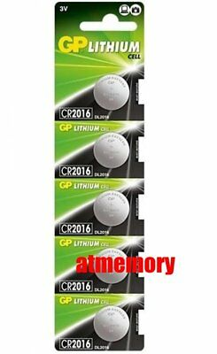 GP CR2016 CR 2016 3V Button Coin Cell Battery x 5pcs Made in Japan EXP2028