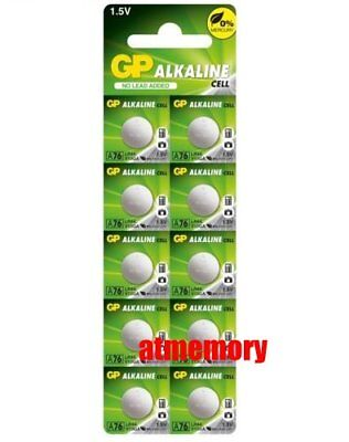 GP LR44 1.5V Alkaline Battery A76 303 357 L1154 AG13 SR44 x10pcs EXP 2022