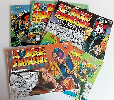 2000AD Judge Dredd Collection No 1 to 5 -  1986 to 1990 - EXCELLENT!!