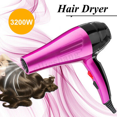 3200W 4-Mode Professional Hair Dryer Hot Cold Wind Blow Heating Large