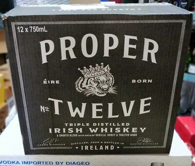 Proper No Twelve Irish Whisky Empty Box