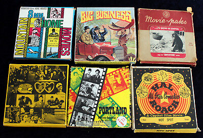 Bundle of 8mm films. Charlie Chaplin, Laurel and Hardy, Hal Roach and Western.