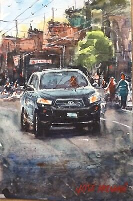 "The Castro District Watercolor Painting Art Original 6"" x 9"" Not A PRINT"
