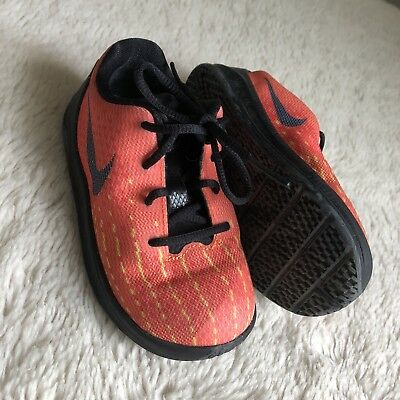 bc9aead4f521 Nike KD Kevin Durant VIII 8 Black Orange Baby Toddler Size 8 C Shoes  Basketball