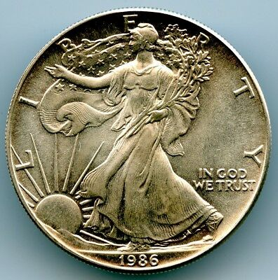 1986 American Silver Eagle Dollar S$1! Unc! 1St Year Of Issue!