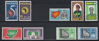 Nigeria 1966-1977 XF Fresh MNH Commemorative Sets 7 Different 16 Stamps
