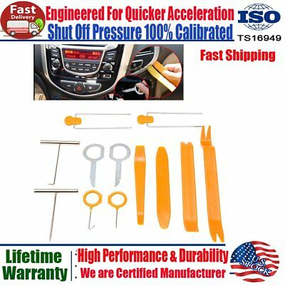 12X Open Plastic Car Door Clip Panel Trim Dash Radio Audio Removal Pry Tools Kit