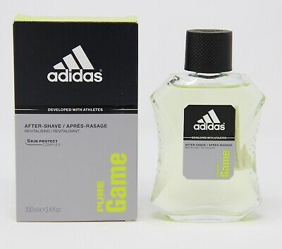 3x Adidas Pure Game After-Shave Lotion for Men 100 ml