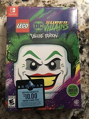 LEGO DC Super Villains Deluxe Edition Nintendo Switch Brand New Factory Sealed