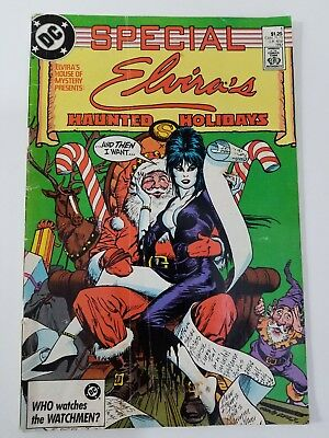 Elvira's House Of Mystery Special Haunted Holidays 1 DC Comcs 1987 Comic Book