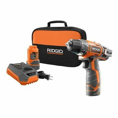 "Ridgid ZRR82005K 12V 3/8"" Cordless Drill Driver Kit (Certified Refurbished)"