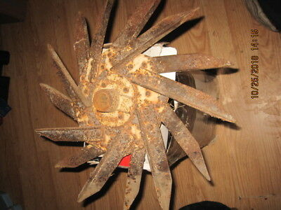 Antique Rotary Hoe/Cultivator Wheel Garden Art