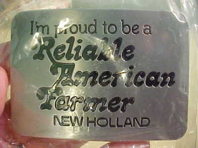 NEW   VintagE 1982 New Holland  PROUD  Reliable American Farmer BELT  BUCKLE