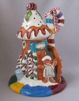 Blue Sky Clayworks Christmas GRANDMA'S CANDY SHOP T-Lite Tealight Candle Holder