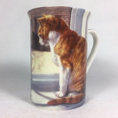 Orange Tabby CAT Cup MUG Made in ENGLAND Creative Tops Cat At Window Fine China