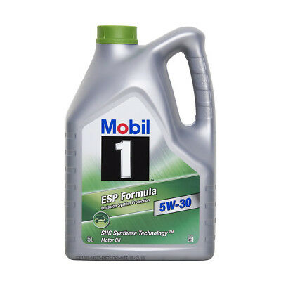 Car Engine Oil Mobil 1 ESP SAE 5W30 Fully Synthetic 5L Low Emission Oil 5 Litre