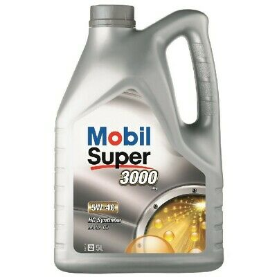 Engine Oil Mobil Super 3000 X1 5W40 MOB-151166 Car Fully Synthetic 5L 5 Litres
