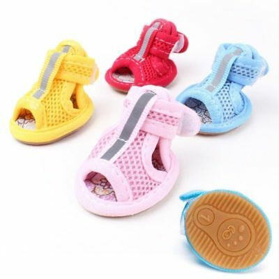 Pets Breathable Soft Mesh Dog's Sandals Casual Anti-Slip Shoes Cute Accessories