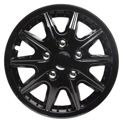Revolution 13 Inch Wheel Trim Set Gloss Black Set of 4 Hub Caps Covers - TopTech