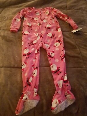 2dfa04cec NWT CARTER S PRETTY Purple Bird Print Fleece Footed Pajamas sz 5t ...