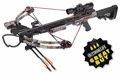 CenterPoint Sniper 370 Crossbow Camo or Black Package 4x32mm Scope and Bolts