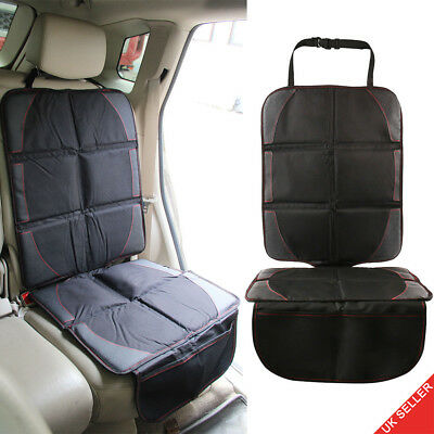 Baby Car Seat Protector Mat Cover Under Child Leather Saver Black UK Store