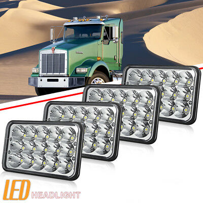 2*Pair 6x4 4X6'' LED Headlights Sealed Beam for Kenworth T800 T400 T600 W900L