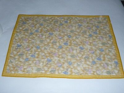 Handmade patchwork quilt. Bunny Cot Quilt (#6)