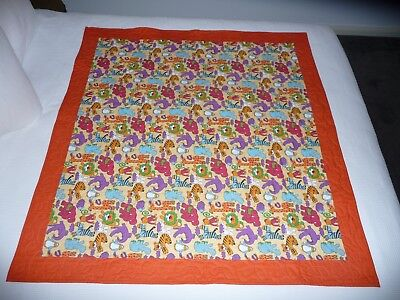 Handmade patchwork quilt. Jungle Animals Cot Quilt (#1)