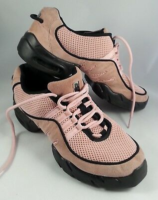 Bloch Dance Sneakers Womens Size 11.5 Pink Jazz Hip Hop Modern Shoes DRT Mesh