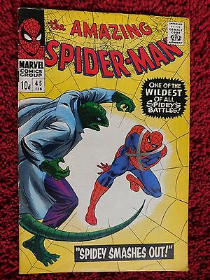 The Amazing Spider-Man #45 – Spidey Smashes Out! – Uk Pence Copy