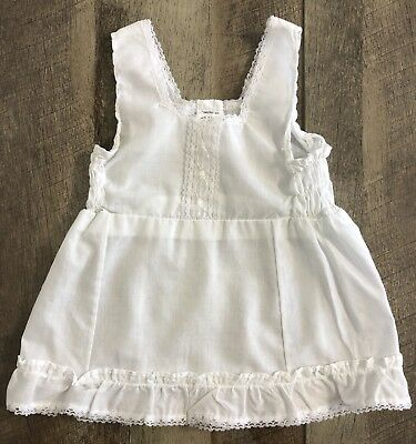 vintage full slip girls toddler size 4 off white embroidered by Queensbury USA