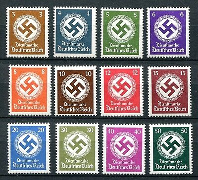GERMANY 3rd REICH 1942 OFFICIAL SET SCOTT O92-O103 PERFECT MNH
