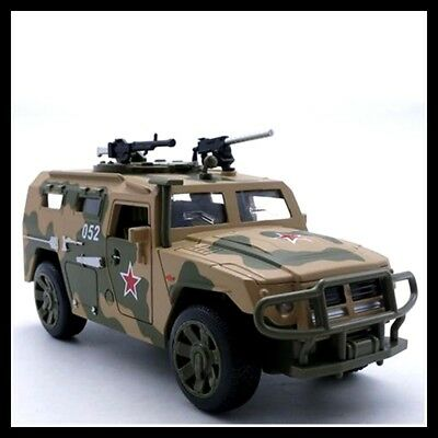 1:32 Tiger Military Armored Diecast Metal Model Pull Back Car Toy Gifts For Kids